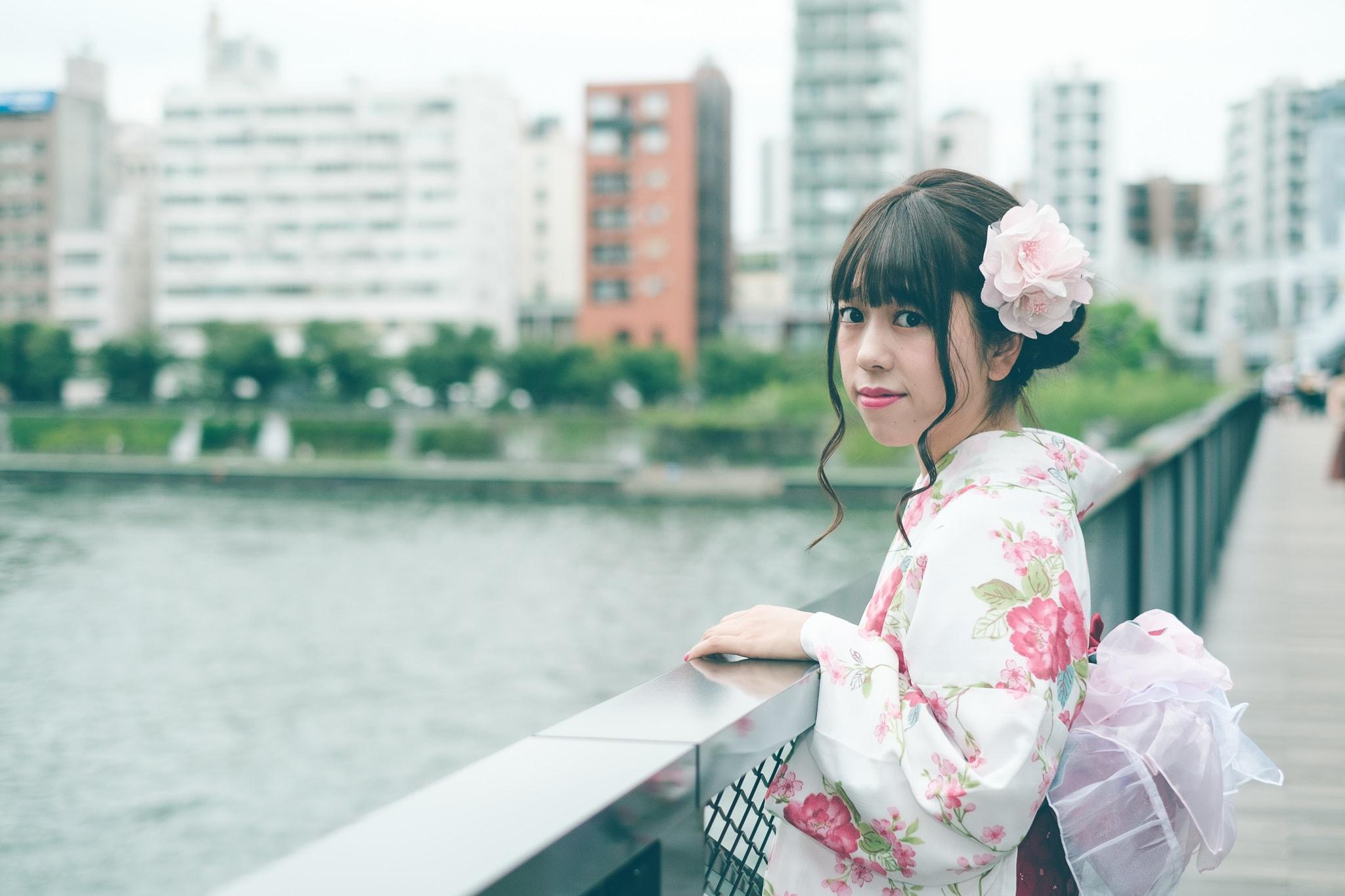 【写真作例】フィルム風!夏の終わりの浅草浴衣ポートレート(富士フイルム)